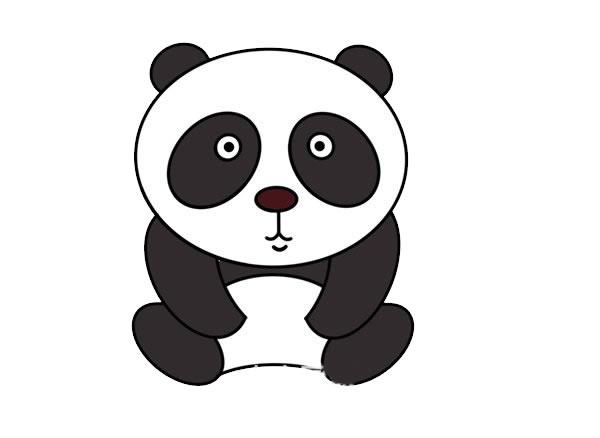 熊猫简笔画怎么画?熊猫的简笔画画法步骤教程