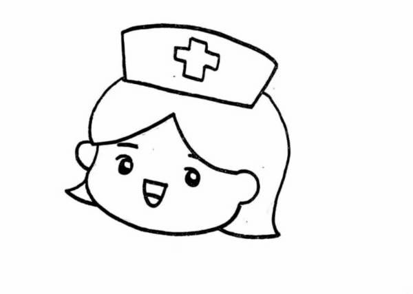 美女护士简笔画怎么画?美女护士简笔画步骤教程