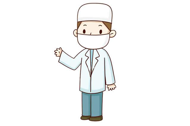 男医生简笔画彩色画法图片