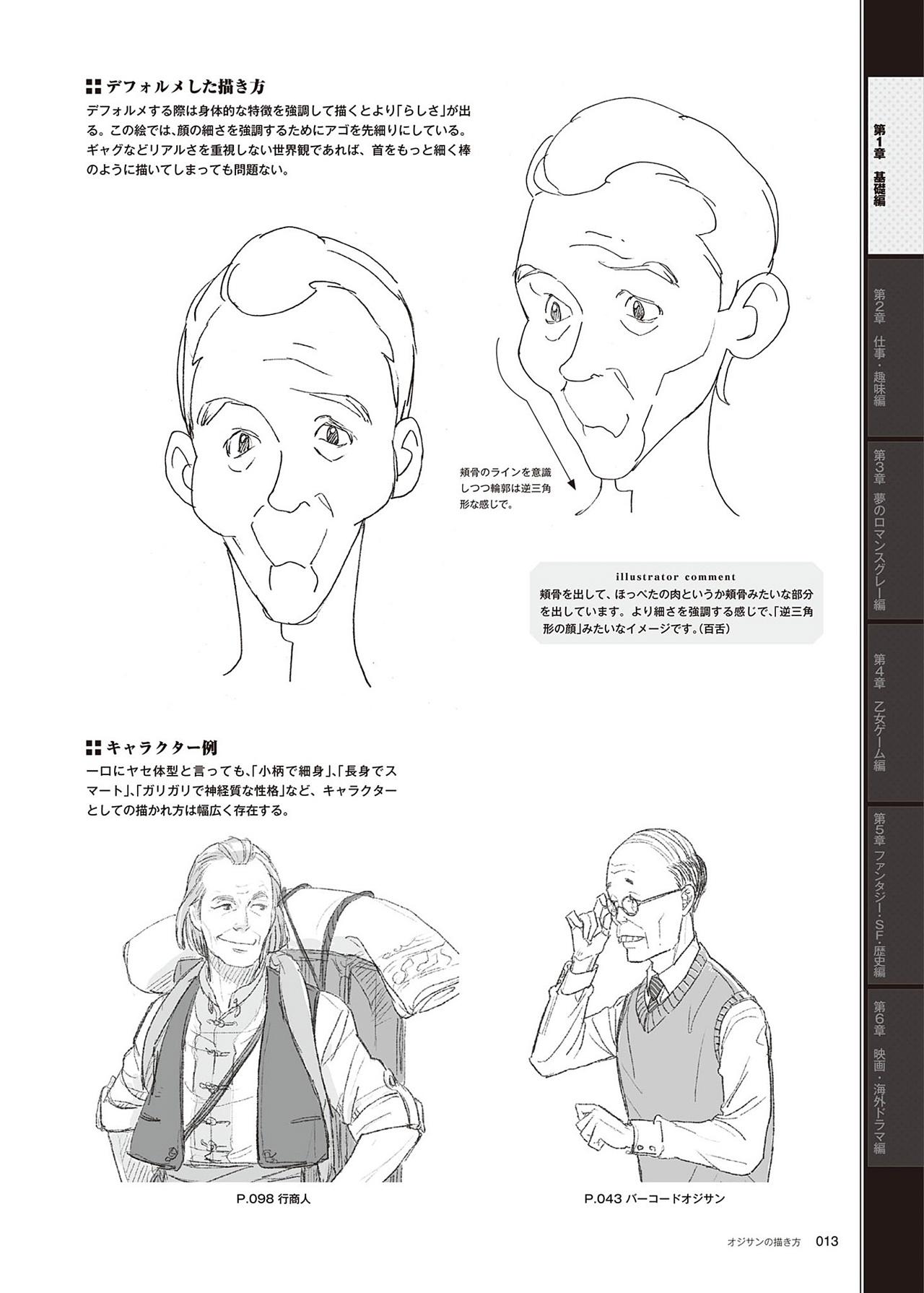 动漫中老年人角色怎么画?