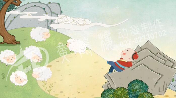 从前,有个放羊娃,每天赶着一群羊,到山里去吃草。.jpg