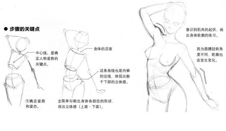 美少女漫画入门-31让上半身和手臂更有魅力