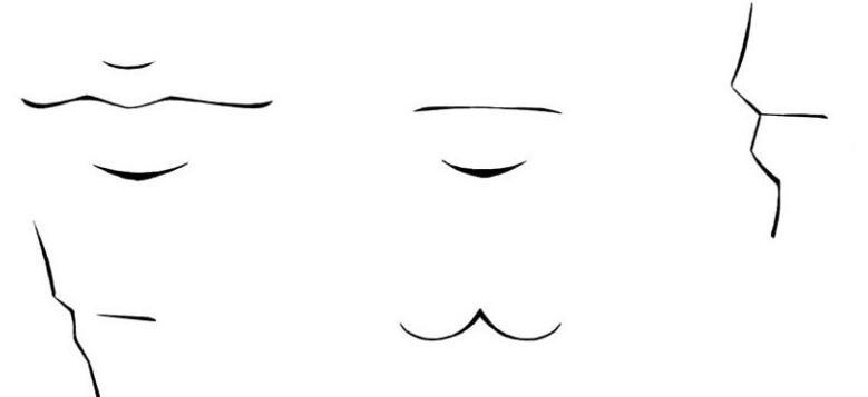 漫画中的嘴巴大多只画出唇缝的部分.jpg