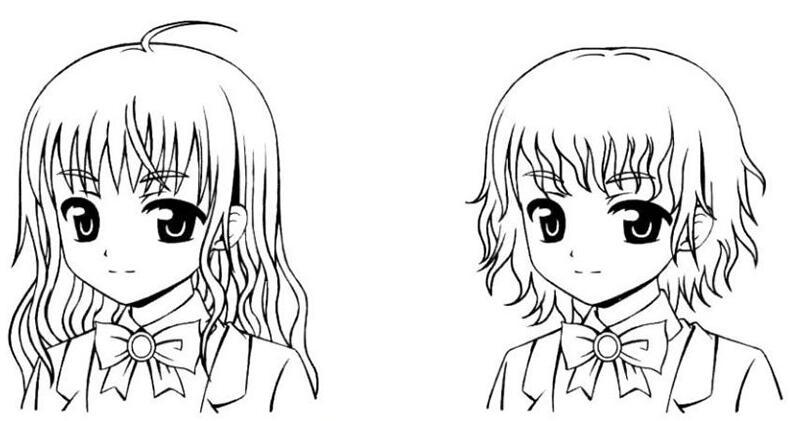 手绘美少女漫画入门-卷发的画法步骤教程d1.jpg