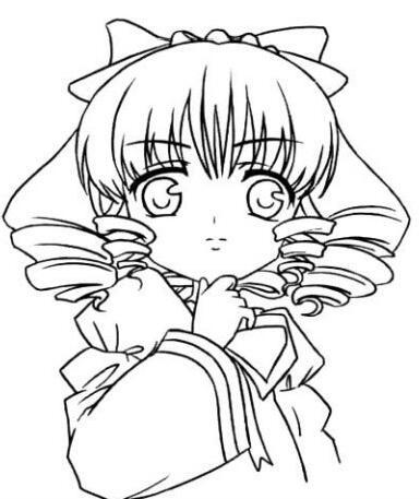 手绘美少女漫画入门-卷发的画法步骤教程d6.jpg