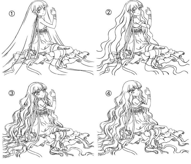 手绘美少女漫画入门-卷发的画法步骤教程d9.jpg