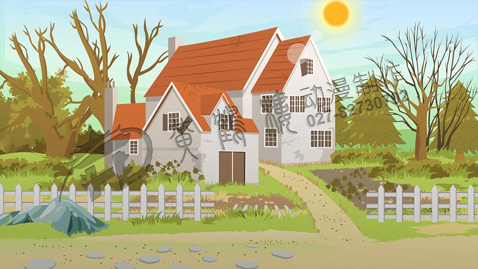 兔子坡动画片制作兔子邻居场景