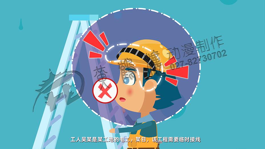 安全帽佩戴不正确动画片制作