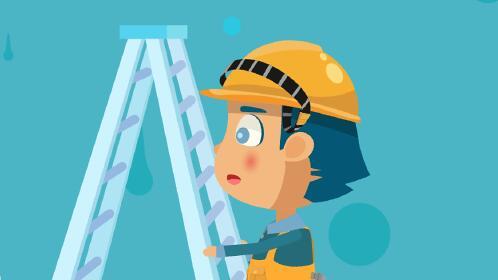 武汉动画制作《人字梯》施工安全教育系列动画片