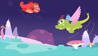 《进化的吞梦兽》Flash课件动画制作