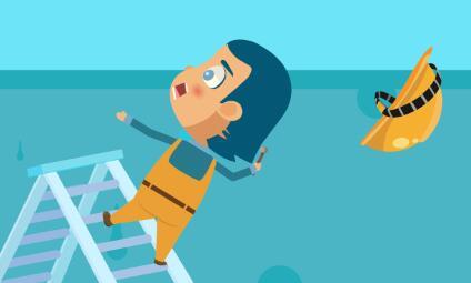 黄鹤楼动画《人字梯作业高处坠落事故》安全教育动画片制作
