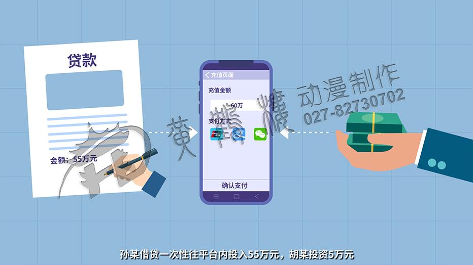 孙某借贷一次性往平台内投入55万元,胡某投资5万元.jpg