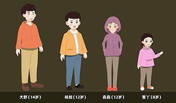 教育动画片《埋在雪下的小屋》人物设计公布