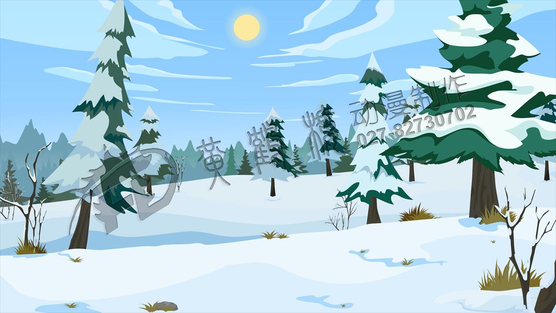 教育动画片《埋在雪下的小屋》动画场景设计一.jpg