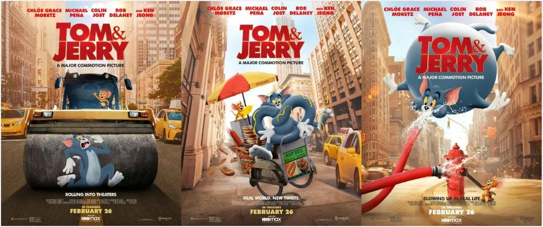 真人CG电影《猫和老鼠》发布最新海报 即将在北美地区上映