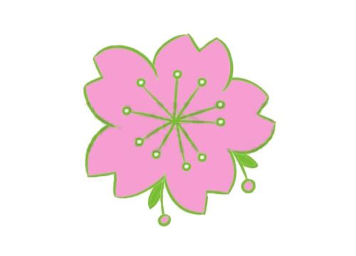手绘樱花简笔画怎么画呢?