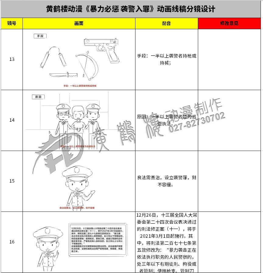 《暴力必惩 袭警入罪》动画线稿分镜设计13-16.jpg