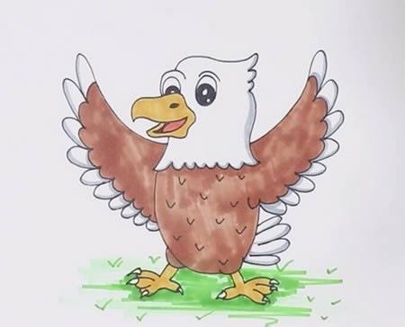 手绘老鹰简笔画怎么画呢?