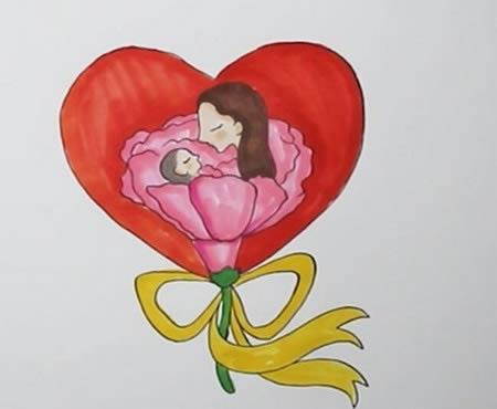 手绘母亲节简笔画怎么画呢?