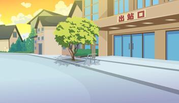 《忠犬八公》动画片场景设计
