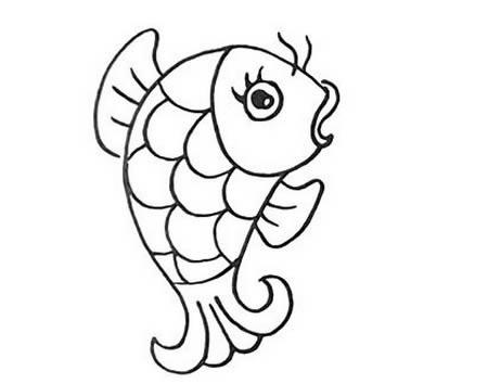 手绘鲤鱼简笔画怎么画呢?
