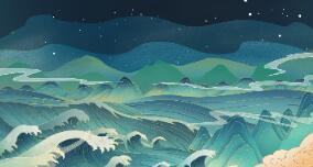手绘二维动画制作《雷鸣电闪江面》国潮风格设计